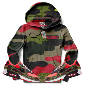 Blessed Camo (Reverse Duck Camo Air Max 90) Hoodie - Shop Men, Women, Kids clothing and accessories To Match Your Kicks online