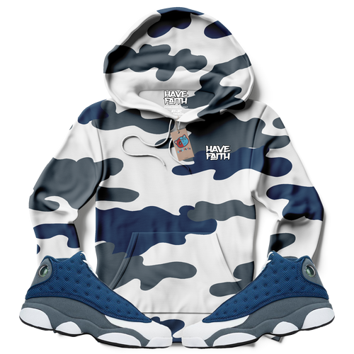 Have Faith Camo (Flint Retro 13's) Kids Hoodie - HaveFaithClothingCo