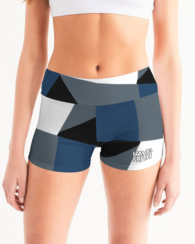 Have Faith (Flint Retro 13's) Women's Mid-Rise Yoga Shorts - HaveFaithClothingCo