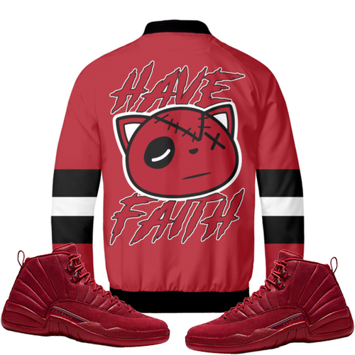 Have Faith (Gym Red 12's) Bomber Jacket