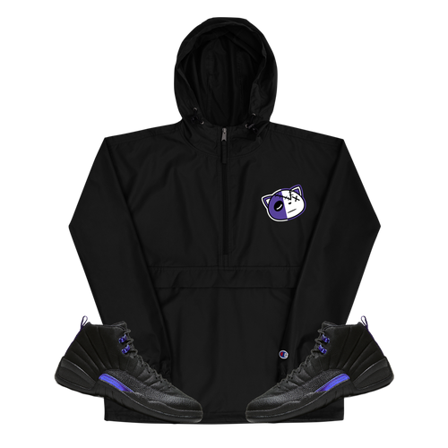 Have Faith (Dark Concord Retro 12's) Embroidered Champion Packable Jacket - Shop Men, Women, Kids clothing and accessories To Match Your Kicks online