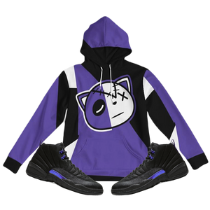 Have Faith Color Block (Dark Concord Retro 12's) Hoodie - Shop Men, Women, Kids clothing and accessories To Match Your Kicks online