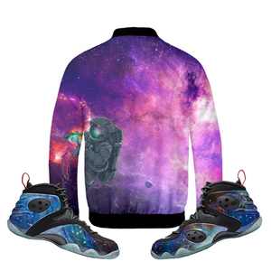 "Outta Space (Zoom Rookie ""Galaxy"") Bomber Jacket - HaveFaithClothingCo"