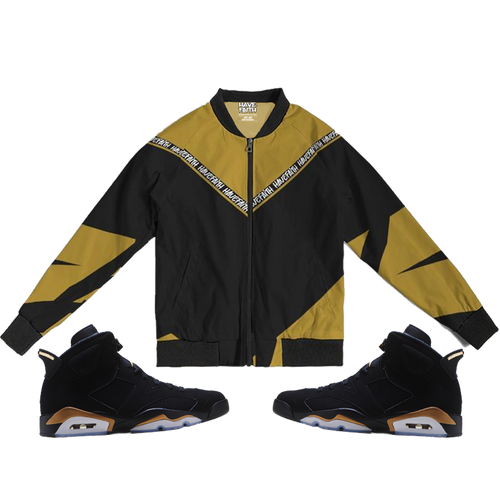 Have Faith striped (DMP Retro 6's) Bomber Jacket - Shop Men, Women, Kids clothing and accessories To Match Your Kicks online