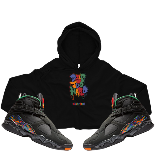 Drip Too Hard (Tinker 8's) Crop Hoodie - Shop Men, Women, Kids clothing and accessories To Match Your Kicks online