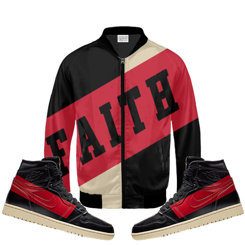 Faith (Defiant Couture 1's) Bomber Jacket - HaveFaithClothingCo