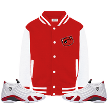 Have Faith (Candy Cane 14's) Varsity Jacket - HaveFaithClothingCo