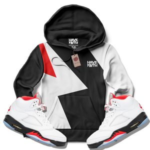 Have Faith (Fire Red Retro 5's) Hoodie - Shop Men, Women, Kids clothing and accessories To Match Your Kicks online