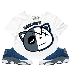 Have Faith (Flint Retro 13's) Women's Crop Tee - HaveFaithClothingCo