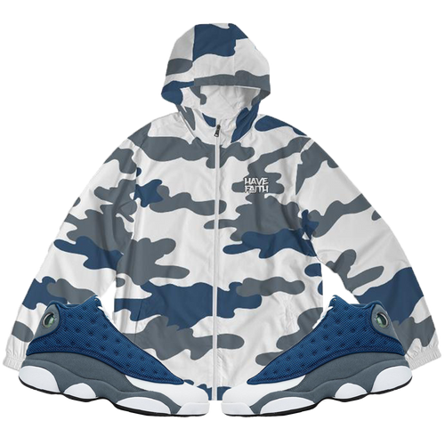 Have Faith (Flint Retro 13's) Windbreaker - HaveFaithClothingCo