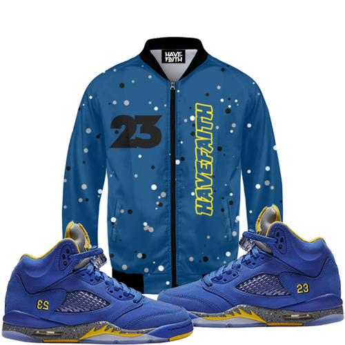 Have Faith (Retro 5 Alternate Laney) Bomber Jacket - HaveFaithClothingCo