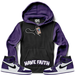 Have Faith (Court Purple Retro 1's) Hoodie - Shop Men, Women, Kids clothing and accessories To Match Your Kicks online