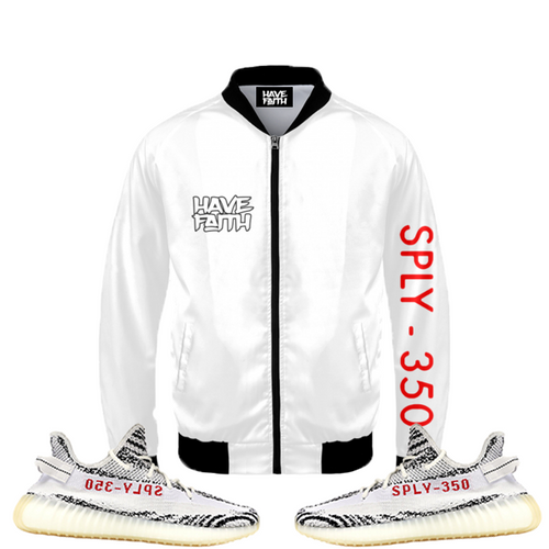Have Faith (Yeezy 350 Boost Zebra) Bomber Jacket