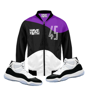 45 (Concord 11's) Bomber Jacket - Shop Men, Women, Kids clothing and accessories To Match Your Kicks online