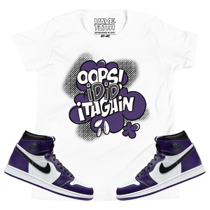 Oops I Did It Again (Court Purple 1's) Kids T-Shirt