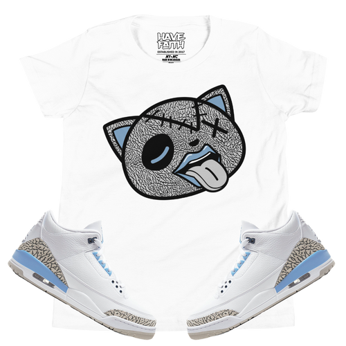 Tounge Out (UNC Retro 3's) Kids T-Shirt - HaveFaithClothingCo