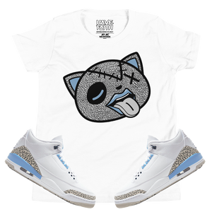 Tounge Out (UNC Retro 3's) Kids T-Shirt - Shop Men, Women, Kids clothing and accessories To Match Your Kicks online