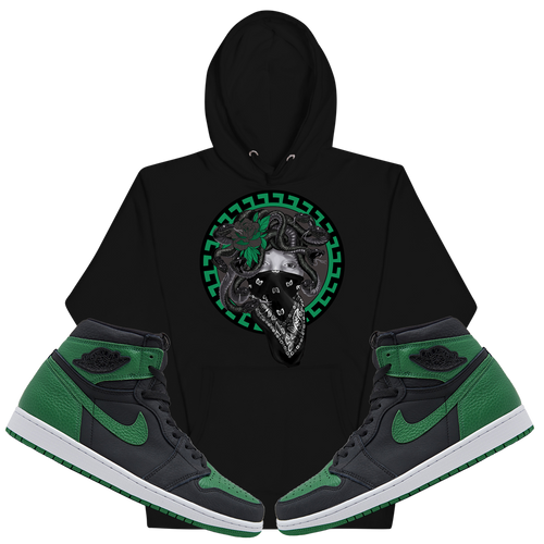 Medusa (Pine Green Retro 1's) Hoodie - Shop Men, Women, Kids clothing and accessories To Match Your Kicks online