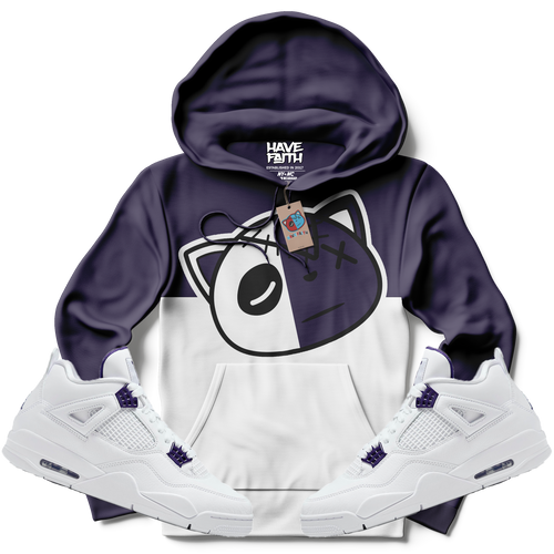 Have Faith (Metallic Purple Retro 4's) Hoodie - Shop Men, Women, Kids clothing and accessories To Match Your Kicks online
