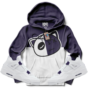 Have Faith (Metallic Purple Retro 4's) Hoodie - HaveFaithClothingCo