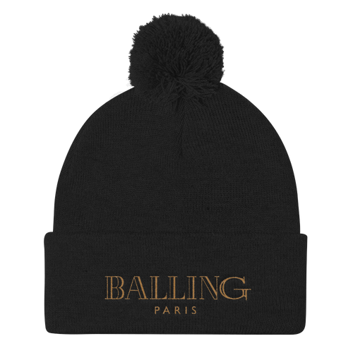 Balling (Metallic Gold Foams) Pom Pom Knit Cap - Shop Men, Women, Kids clothing and accessories To Match Your Kicks online