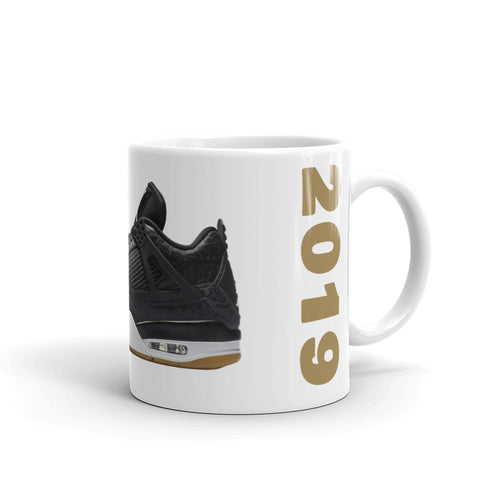 Air Jordan Retro 4 Black Laser Gum Mug - HaveFaithClothingCo