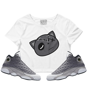 Have Faith (Atmosphere Grey 13's) Crop Top