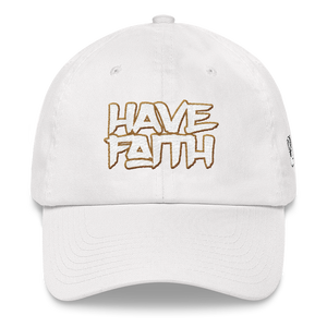 Have Faith (White Levi's x Air Jordan 4) Dad hat - HaveFaithClothingCo