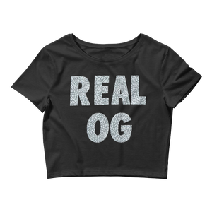 Real OG (Cement 3s) Women's Crop Top - HaveFaithClothingCo