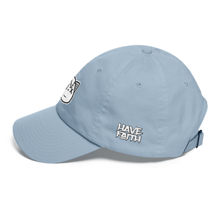 HF Logo (Pure White 3's) Dad hat - HaveFaithClothingCo