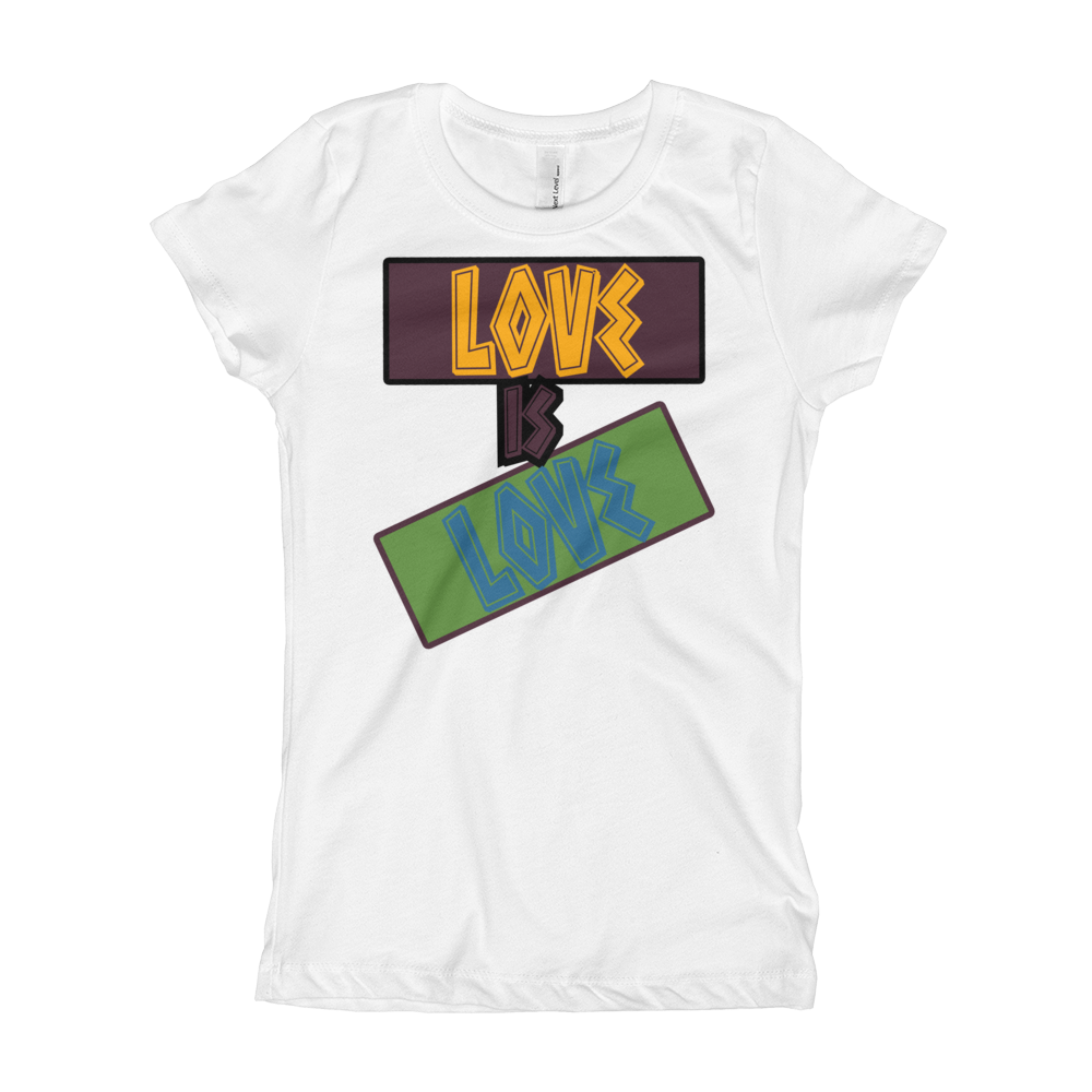 Love Is Love (Bordeaux 7's) Girl's T-Shirt - HaveFaithClothingCo