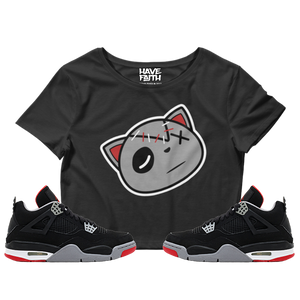 Have Faith (Bred 4's) Crop Top - HaveFaithClothingCo