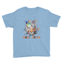 Splattered Tiger (Photo Blue Air Max Deluxe) Youth Short Sleeve T-Shirt - HaveFaithClothingCo