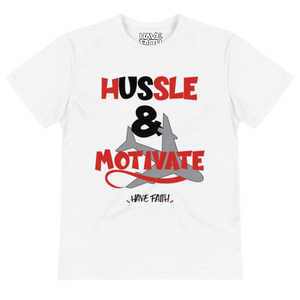 Hussle & Motivate (Candy Cane 14's) T-Shirt - Shop Men, Women, Kids clothing and accessories To Match Your Kicks online