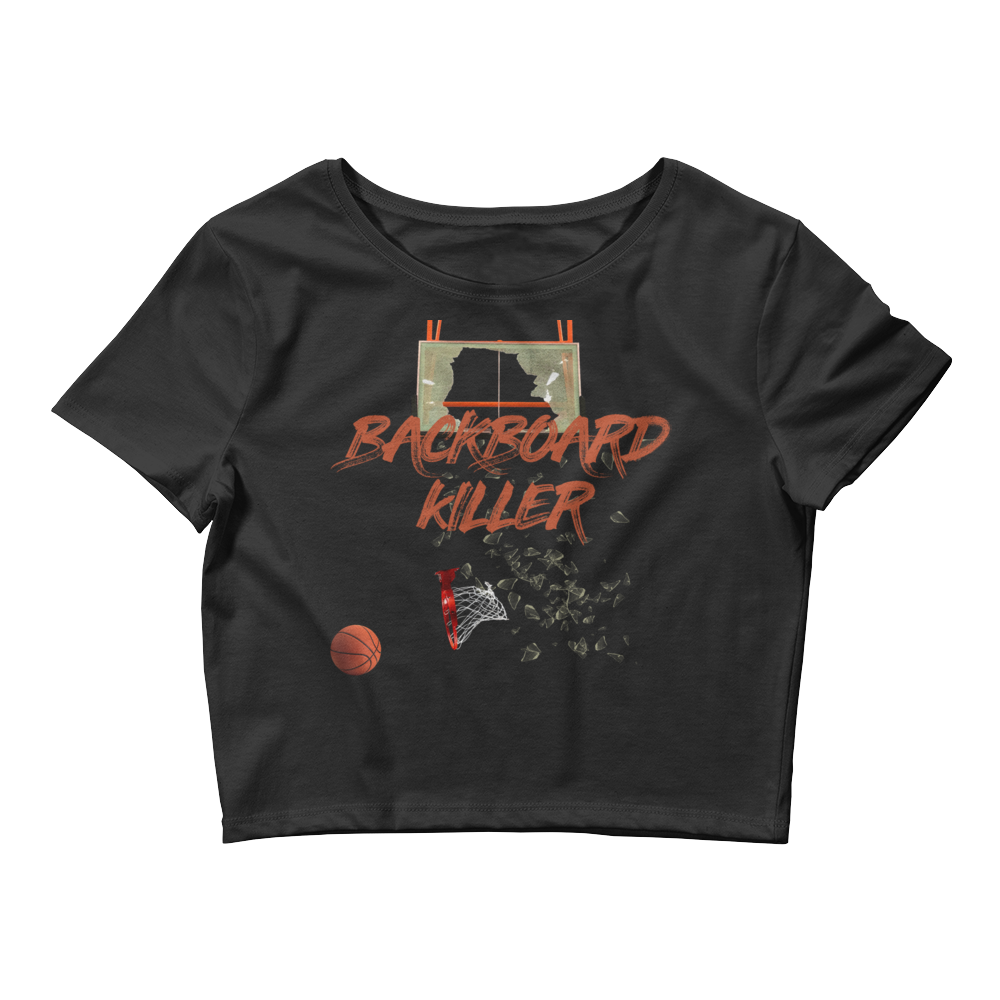 Backboard Killer (Shattered Backboard 1s) Women's Crop Top - HaveFaithClothingCo