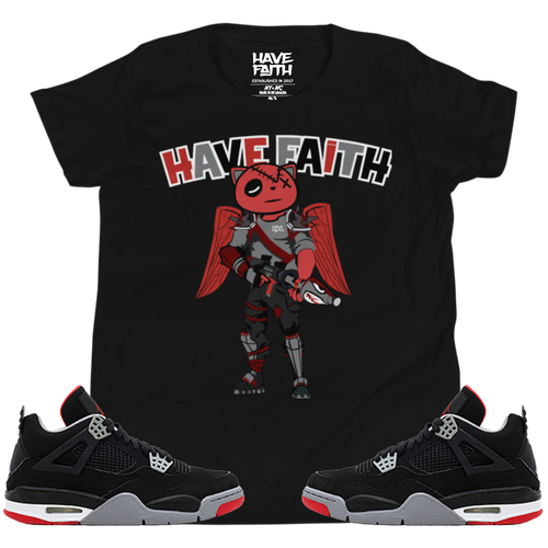 Running & Gunning (Bred 4's) Youth Short Sleeve T-Shirt
