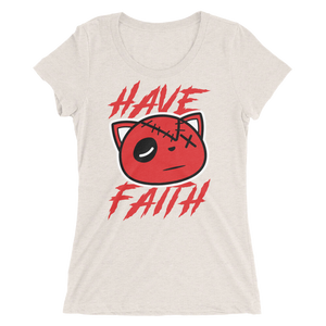 Have Faith (Platinum Tint 11's) Ladies' short sleeve t-shirt - HaveFaithClothingCo
