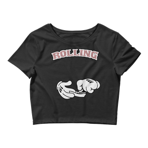 Rolling (Elemental Rose Foams) Women's Crop Top - HaveFaithClothingCo