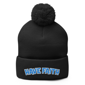 Have Faith (Unc Retro 9's) Pom-Pom Beanie - Shop Men, Women, Kids clothing and accessories To Match Your Kicks online
