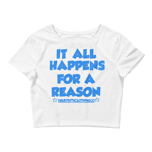 For A Reason (Pure White 3's) Women's Crop Top - HaveFaithClothingCo