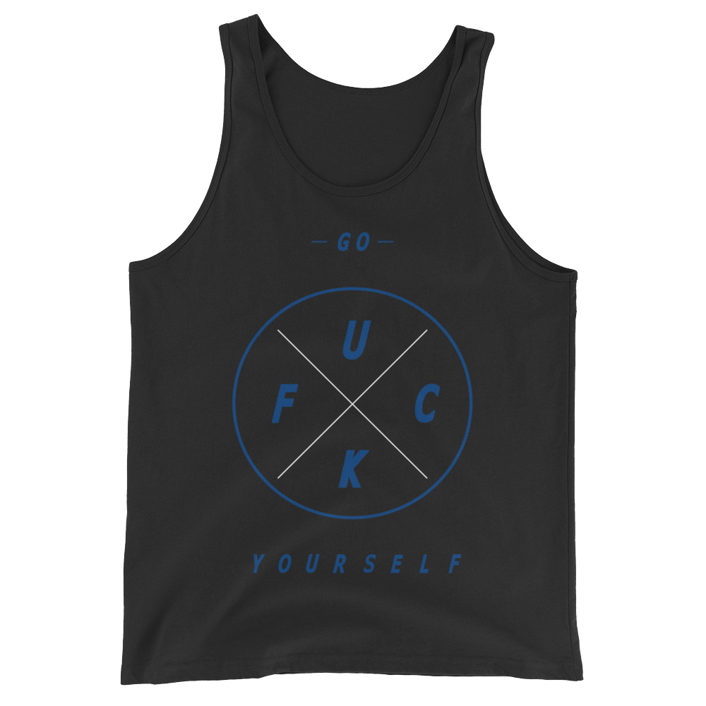 Fuck Yourself (Dark Neon Royal FlightPosite) Tank Top - HaveFaithClothingCo