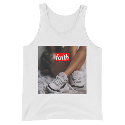 Faith (Fire Red 3's) Tank Top - HaveFaithClothingCo