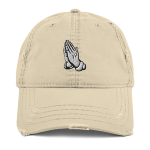 "Prayer Hands (""Super Bowl LIV"" 10's) Distressed Dad Hat - HaveFaithClothingCo"