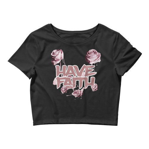 Have Faith (Elemental Rose Foams) Women's Crop Top - HaveFaithClothingCo
