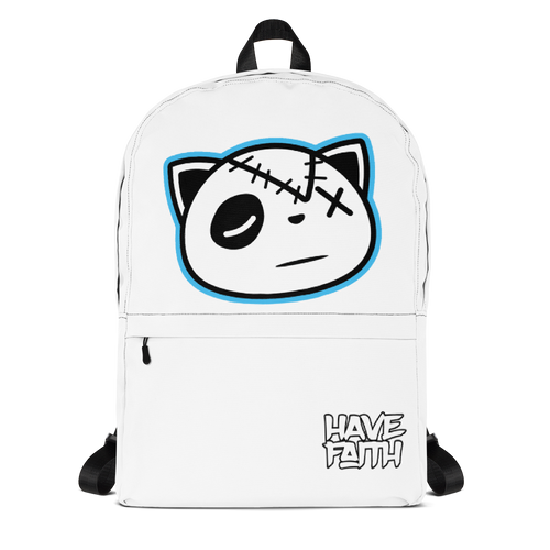 Have Faith (Pure White 3's) Backpack - HaveFaithClothingCo