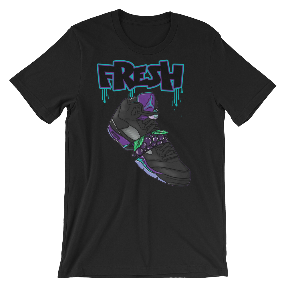 Fresh 5s (Black Grape 5s)T-Shirt - HaveFaithClothingCo