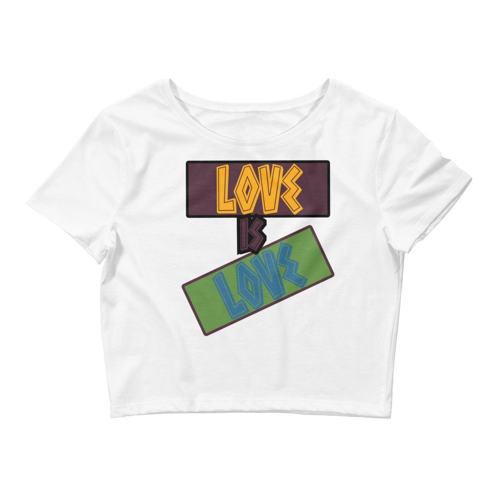 Love Is Love (Bordeaux 7's) Women's Crop Top - HaveFaithClothingCo