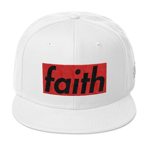 Faith Box Logo Snapback Hat - HaveFaithClothingCo