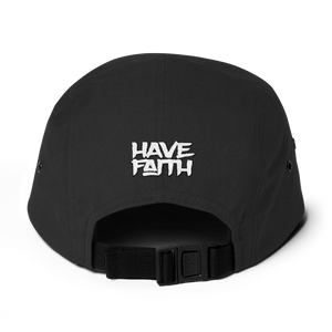 Have Faith Air (Pinstripe Uptempo) Five Panel Cap - HaveFaithClothingCo