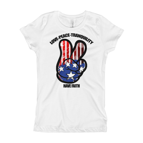 Peace (Westbrook 10's) Girl's T-Shirt - HaveFaithClothingCo